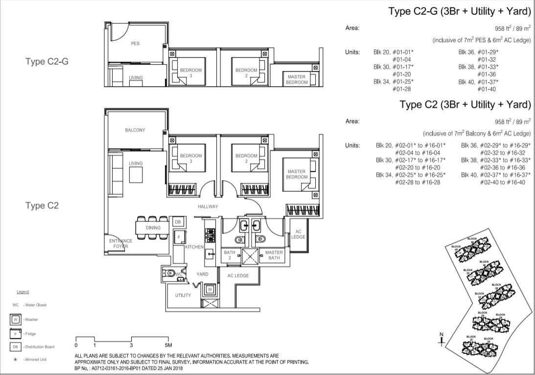 Floor Plan Type C2-G ; Type C2
