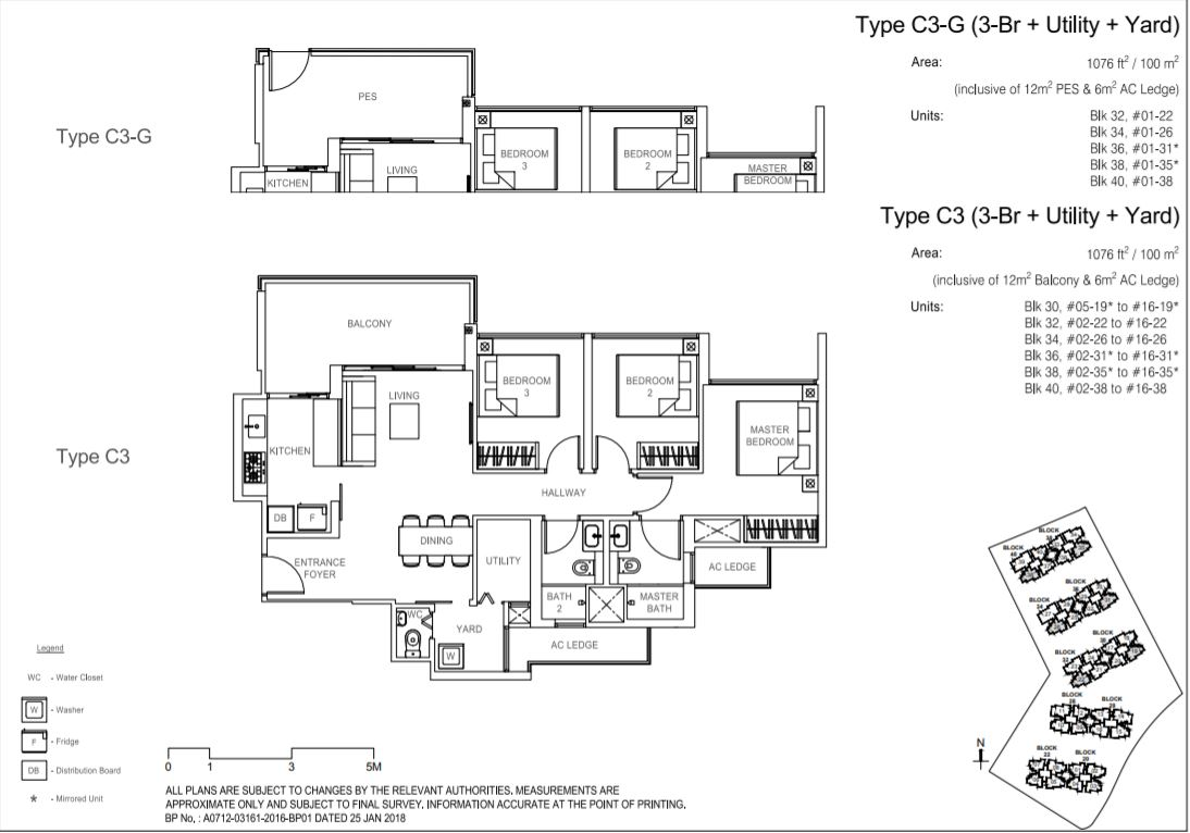 Floor Plan Type C3-G ; Type C3