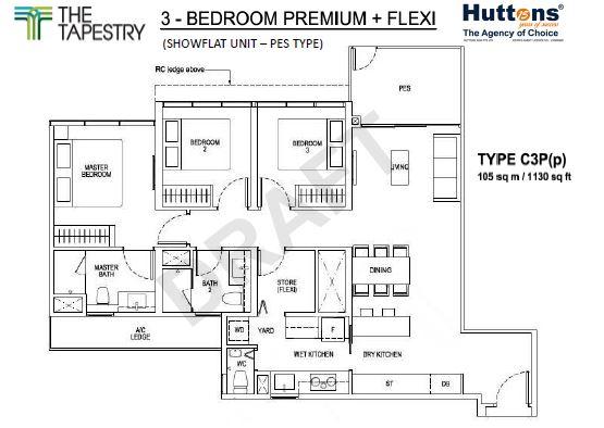 Floor Plan Type C3P