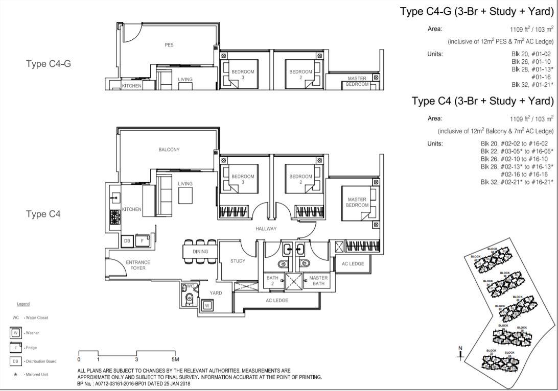 Floor Plan Type C4-G ; Type C4