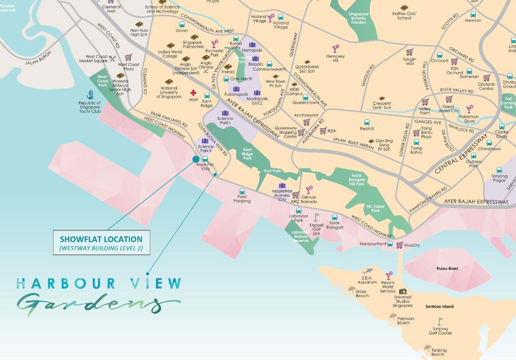 Harbour Views Gardens location Map