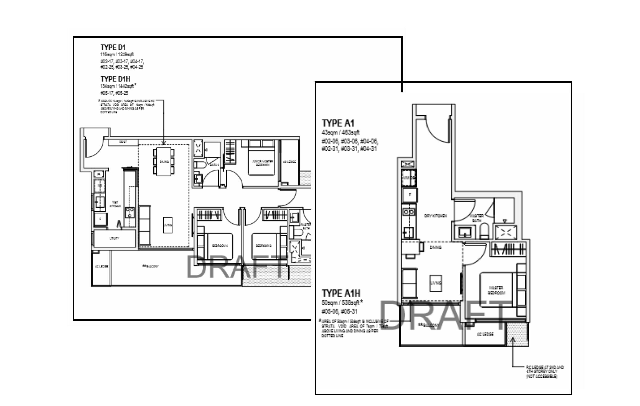 The Verandah Residences Floor Plan