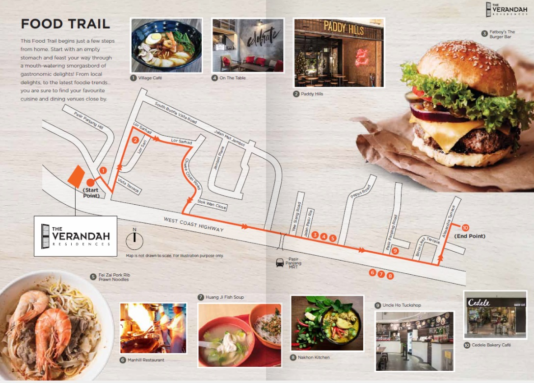 The Verandah Residences Food Trail