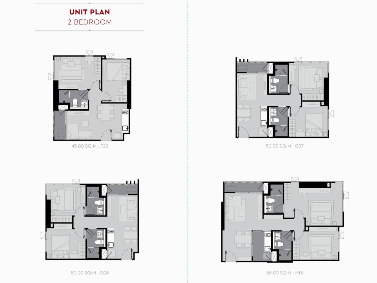 Unit Plan 2 Bedroom