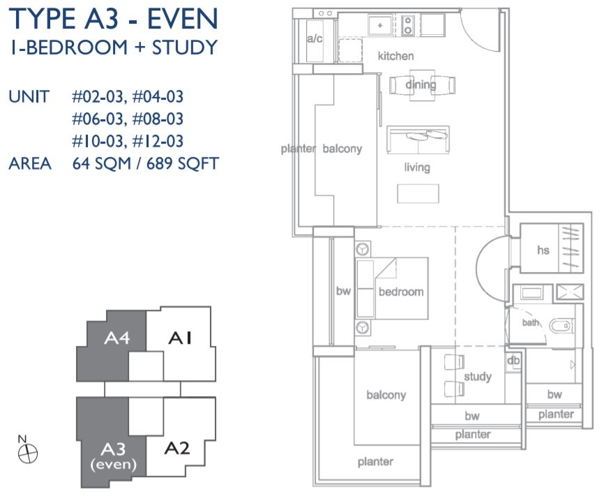 Floor Plan Type A3-Even