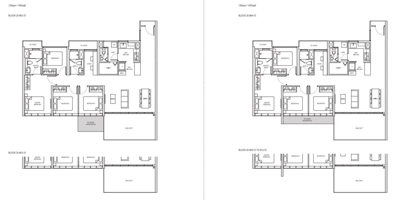Floor Plan 4 BedRoom+Study Type DS1