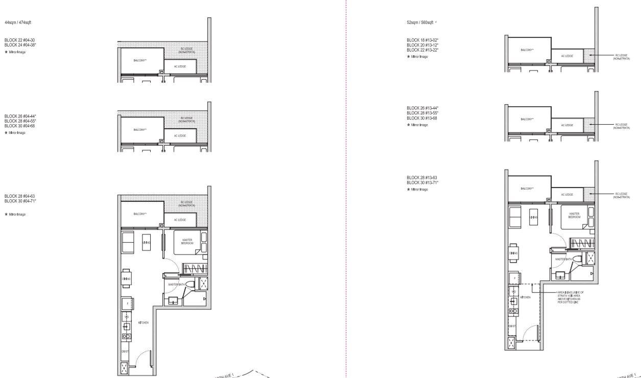 Floor Plan Type A1,A1h