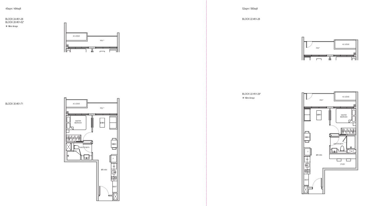 Floor Plan Type A1(a)(PES) and AS1(PES)