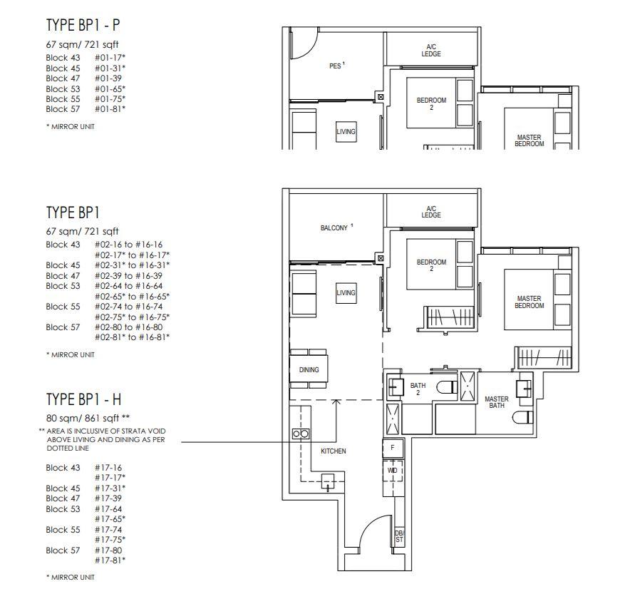 Floor Plan 2 BedroomPremium