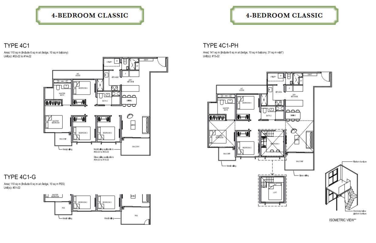 Floor Plan 4-Bedroom