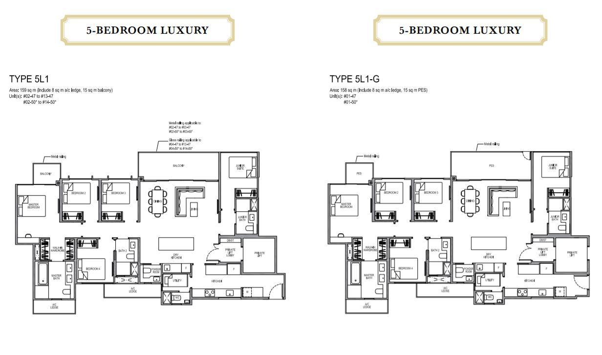 Floor Plan 5-Bedroom