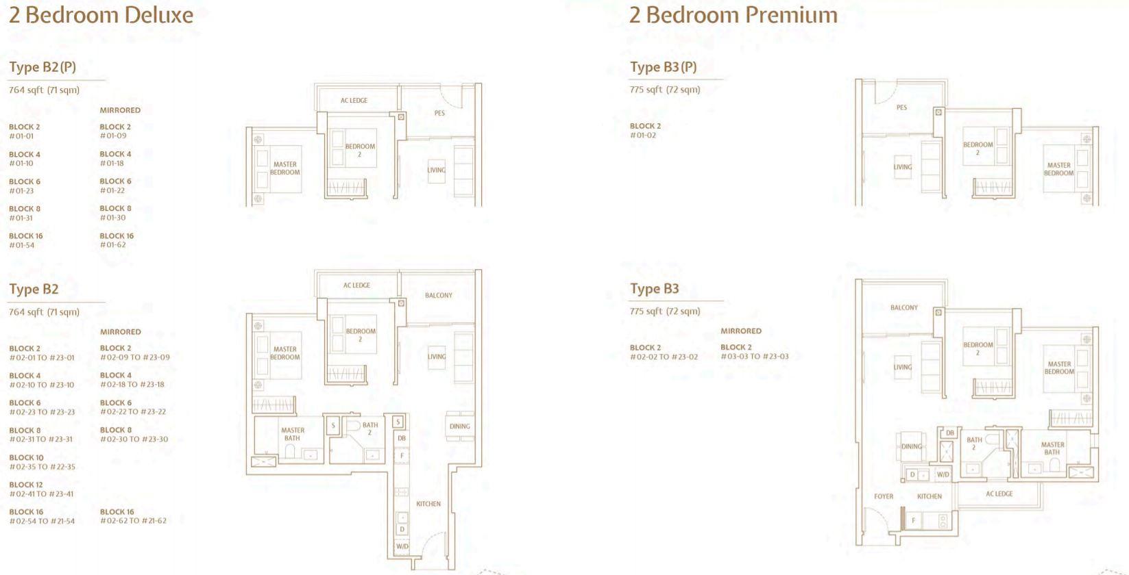 FloorPlan 2 Bedroom DeLuxe-Premium