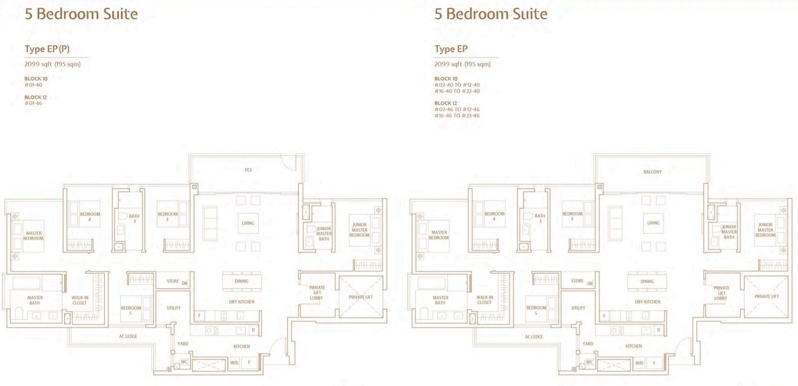 FloorPlan 5 Bedroom-Suite