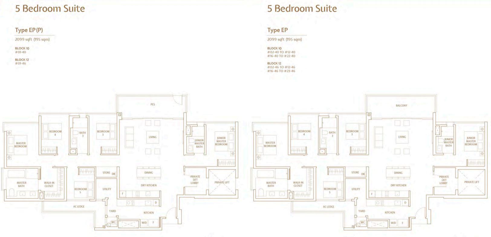FloorPlan 5 Bedroom-Suite