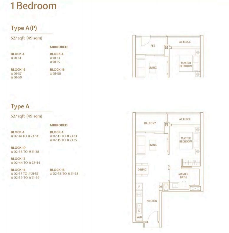 FloorPlan TypeA 1 Bedroom