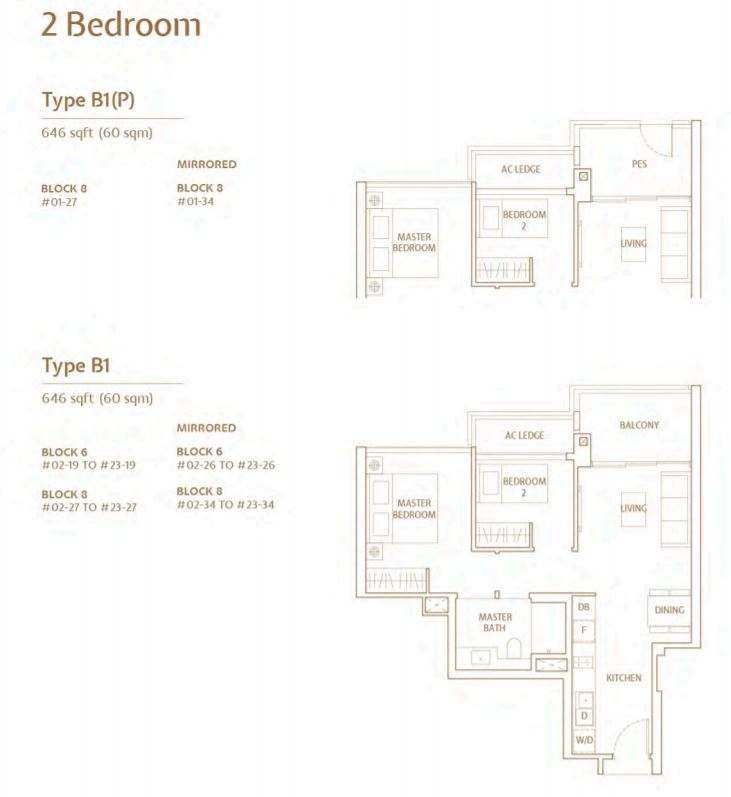 FloorPlan TypeB 2 Bedroom