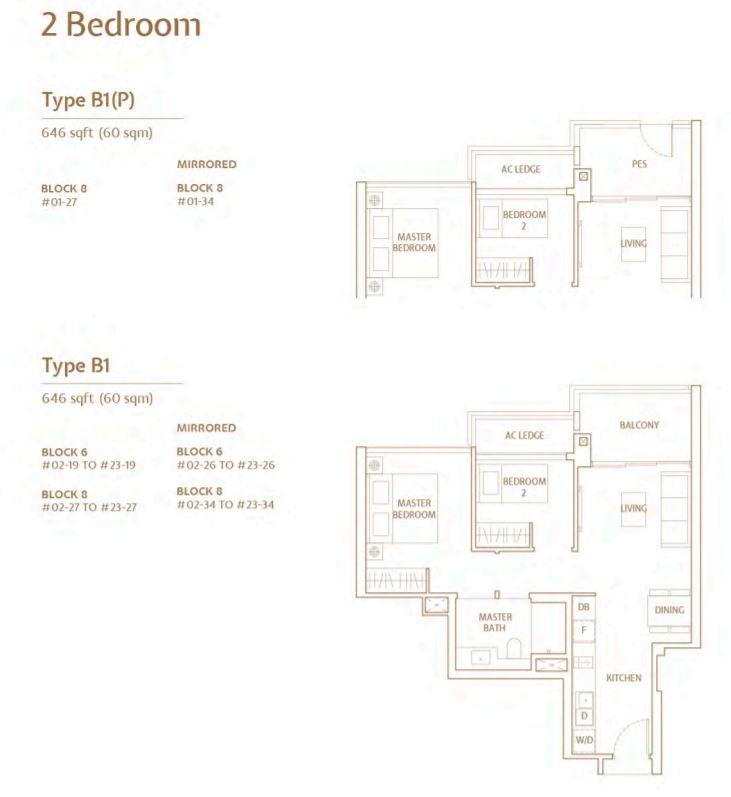 FloorPlan TypeB 2 Bedroom
