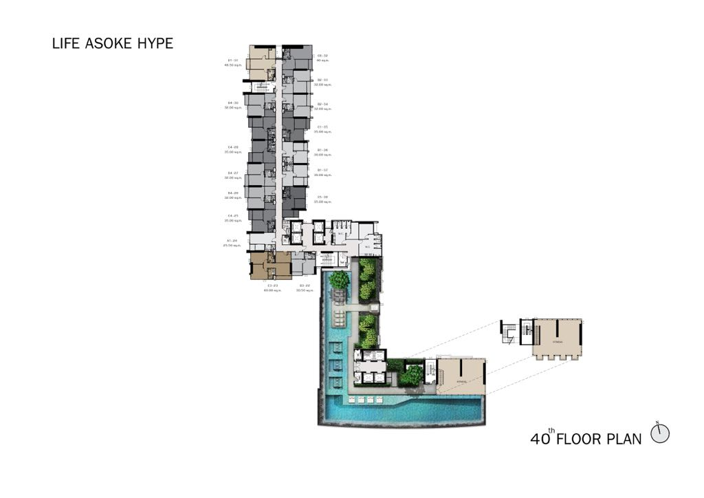 Life-Asoke-Hype-Level-40-Site-Plan