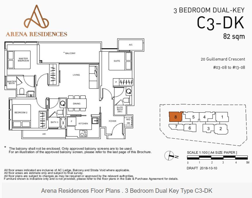 Floor Plan Type C3-DK