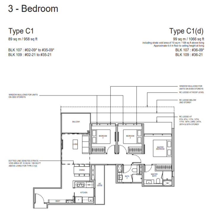 Whistler Grand Condo TypeC1 3Bedroom