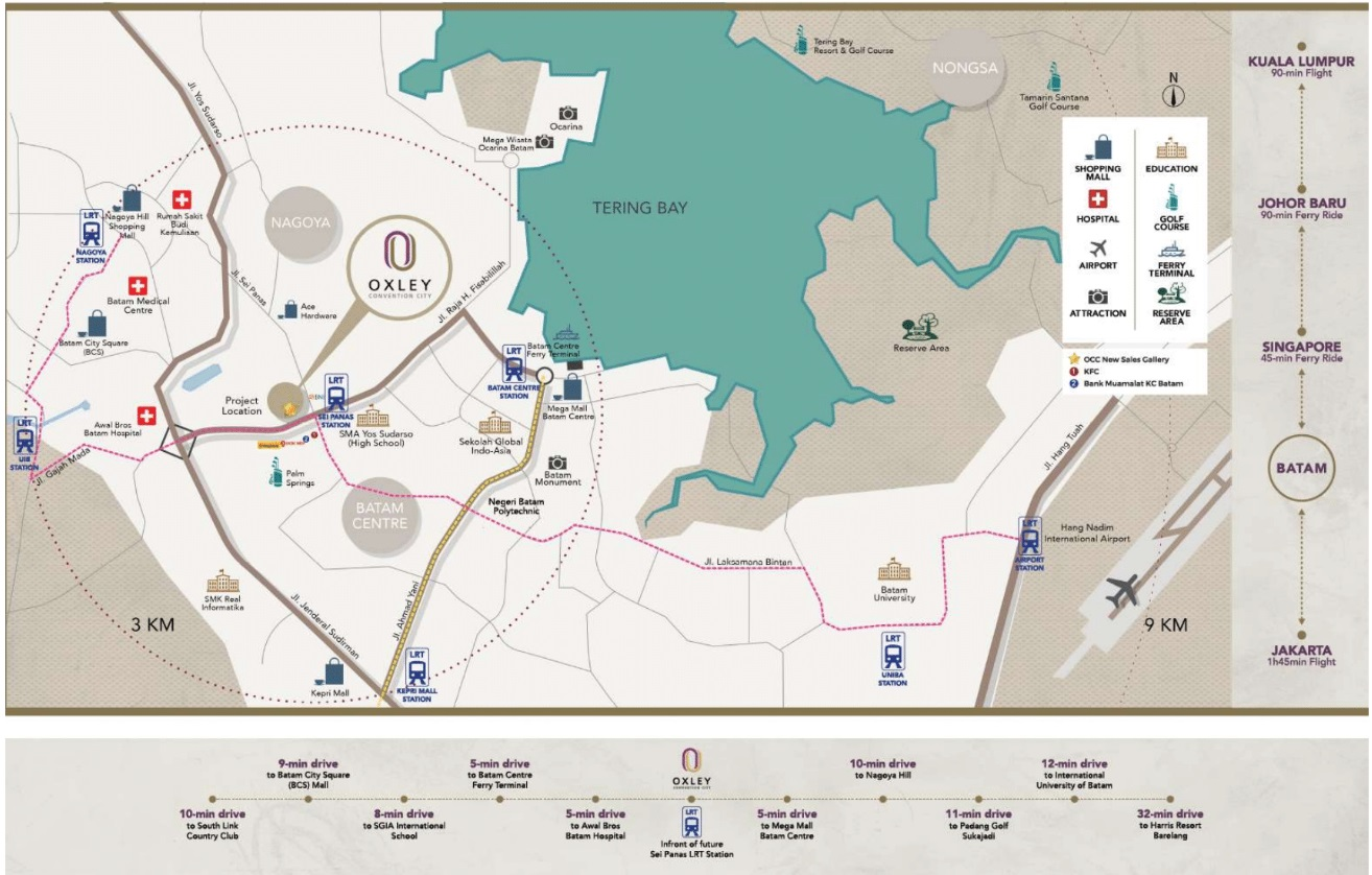 Oxley Convention City Location Map