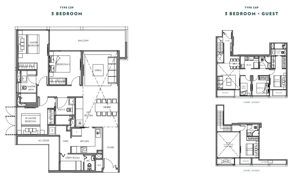 Floor Plan 3 Bedroom Type C4