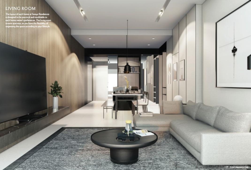 Seraya Residences Living Room
