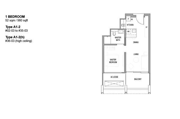 Floor Plan: 1 Bedroom