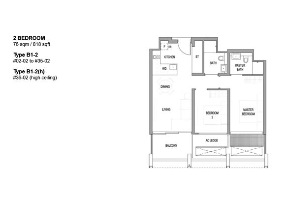 Floor Plan: 2 Bedrooms