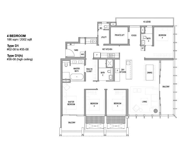 Floor Plan: 4 Bedroom