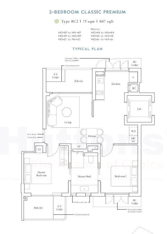 Avenue South 2-Bedroom Classic Premium