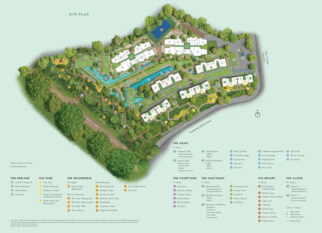 Avenue South Siteplan with Facilities