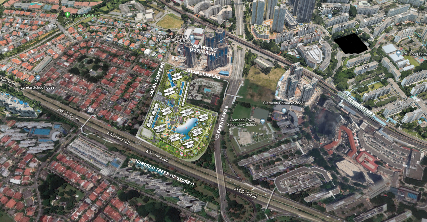 Google Map Parc Clematis