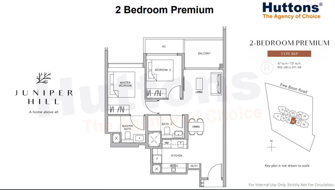 Floor Plan 2 Bedroom Premium