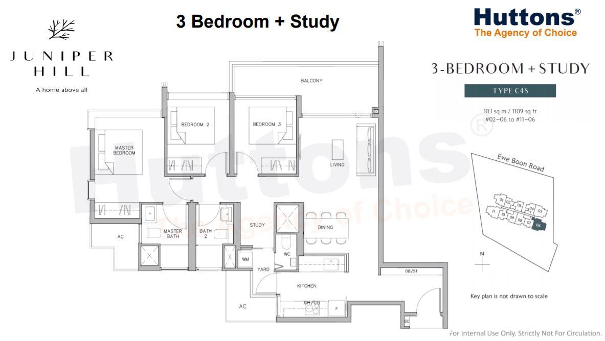 Floor Plan 3 Bedroom + Study