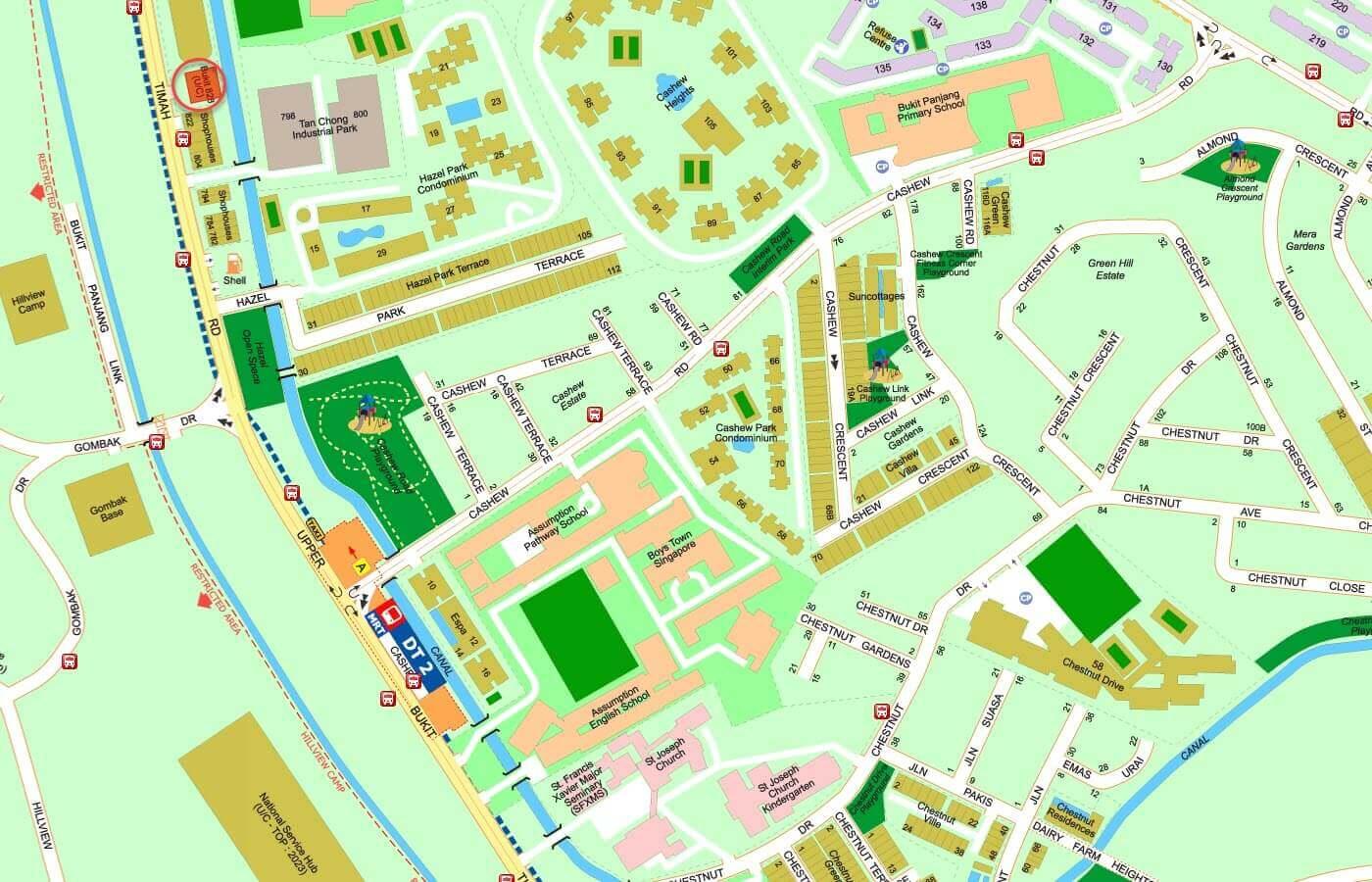 Bukit-828-Condo-Street-Directory-Map
