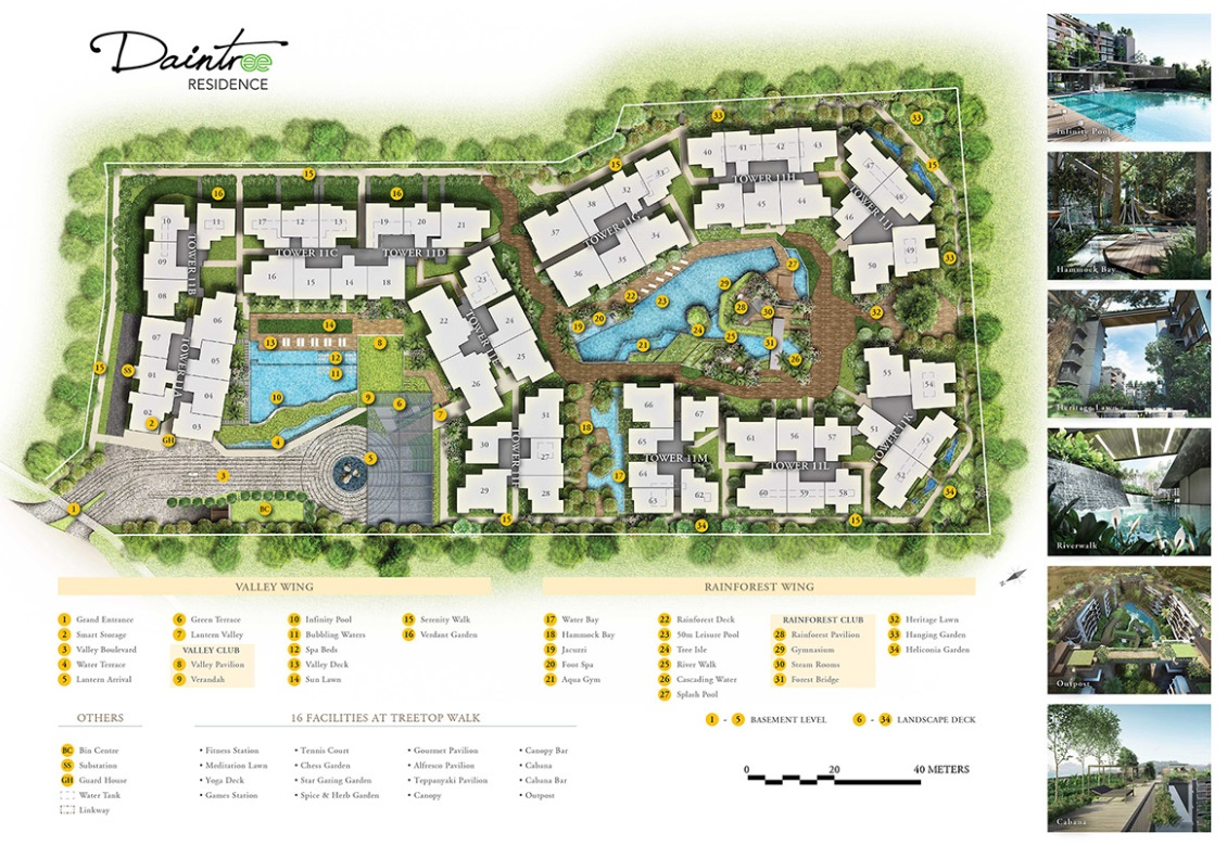 Daintree Residences SIte plan Facilities