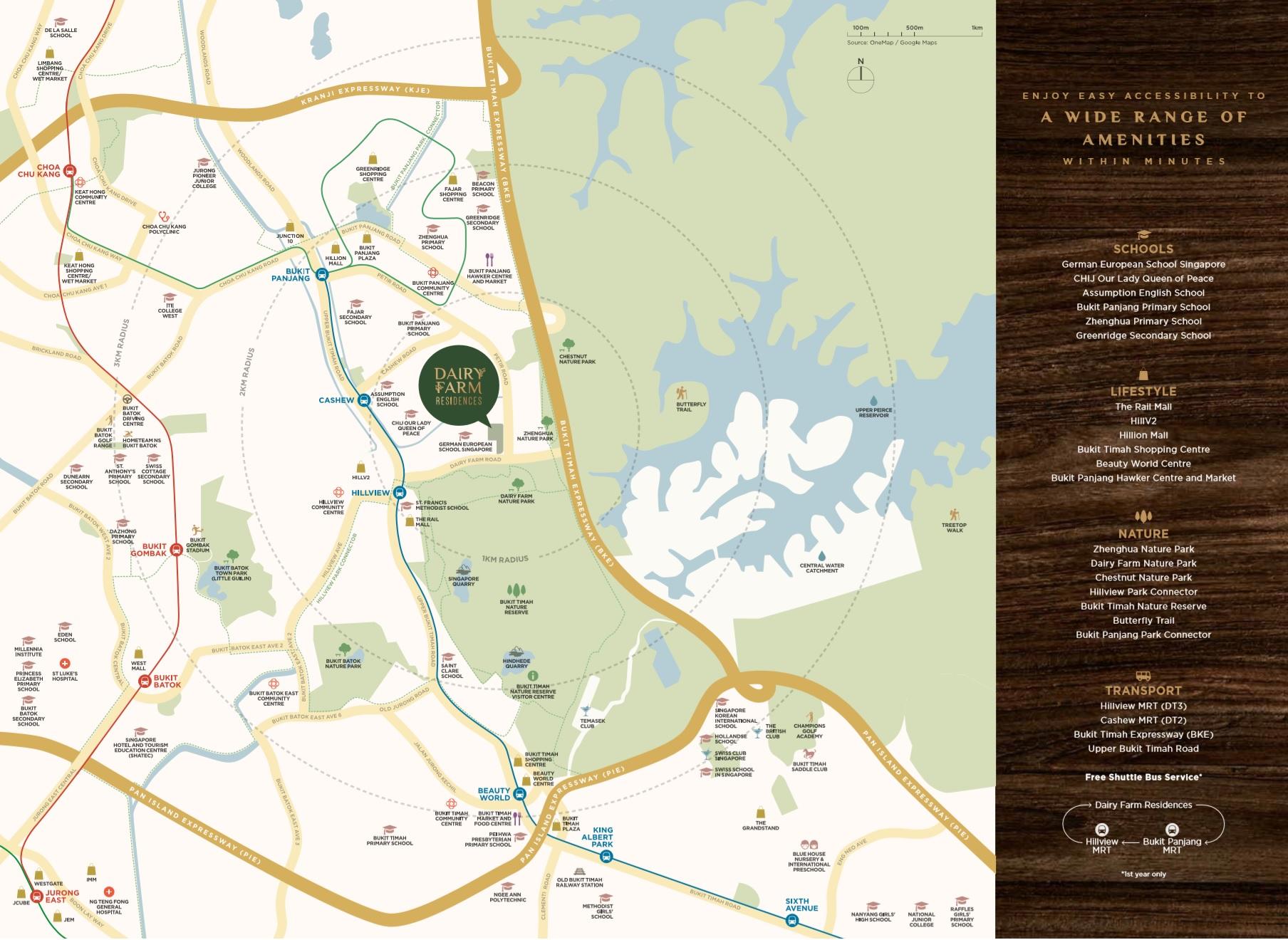 Dairy Farm Location Map