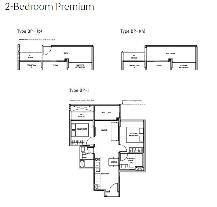 FloorPLan 2 BedroomPremium