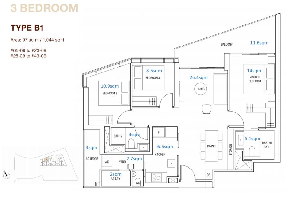 Floor Plan Type B1