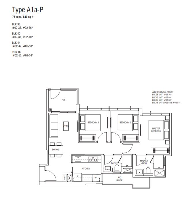 Floor Plan Type A1a-P