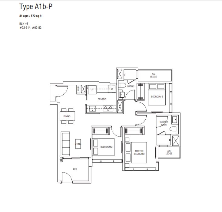 Floor Plan Type A1b-P