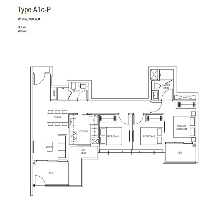 Floor Plan Type A1c-P