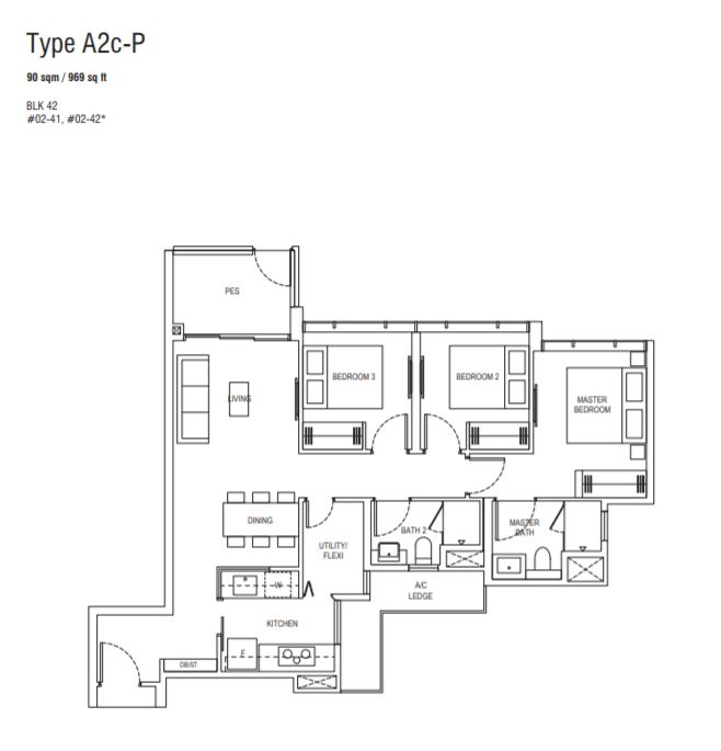 Floor Plan Type A2c-P
