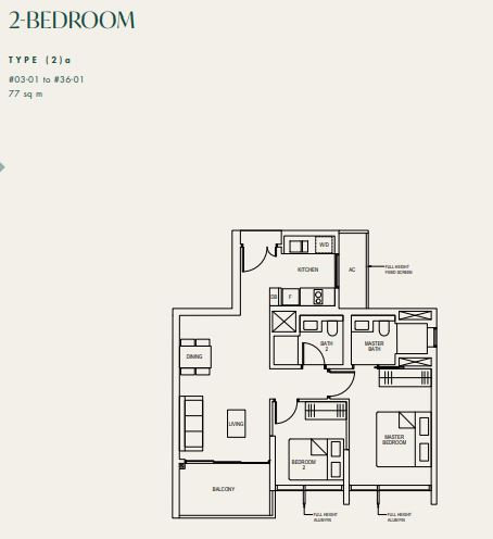 Floor Plan 2 Bedroom