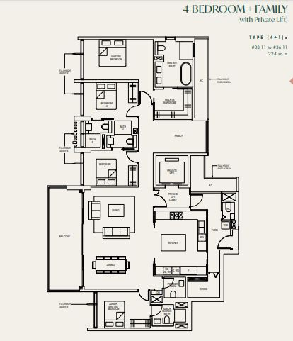 Floor Plan 4 Bedroom Family