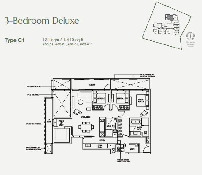 Floor Plan 3 Bedroo + DeLuxe