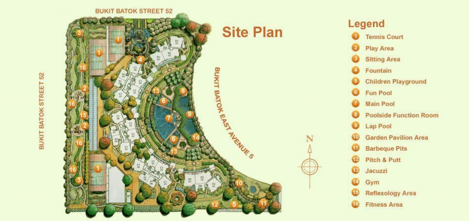 Guilin View Siteplan and Facilities