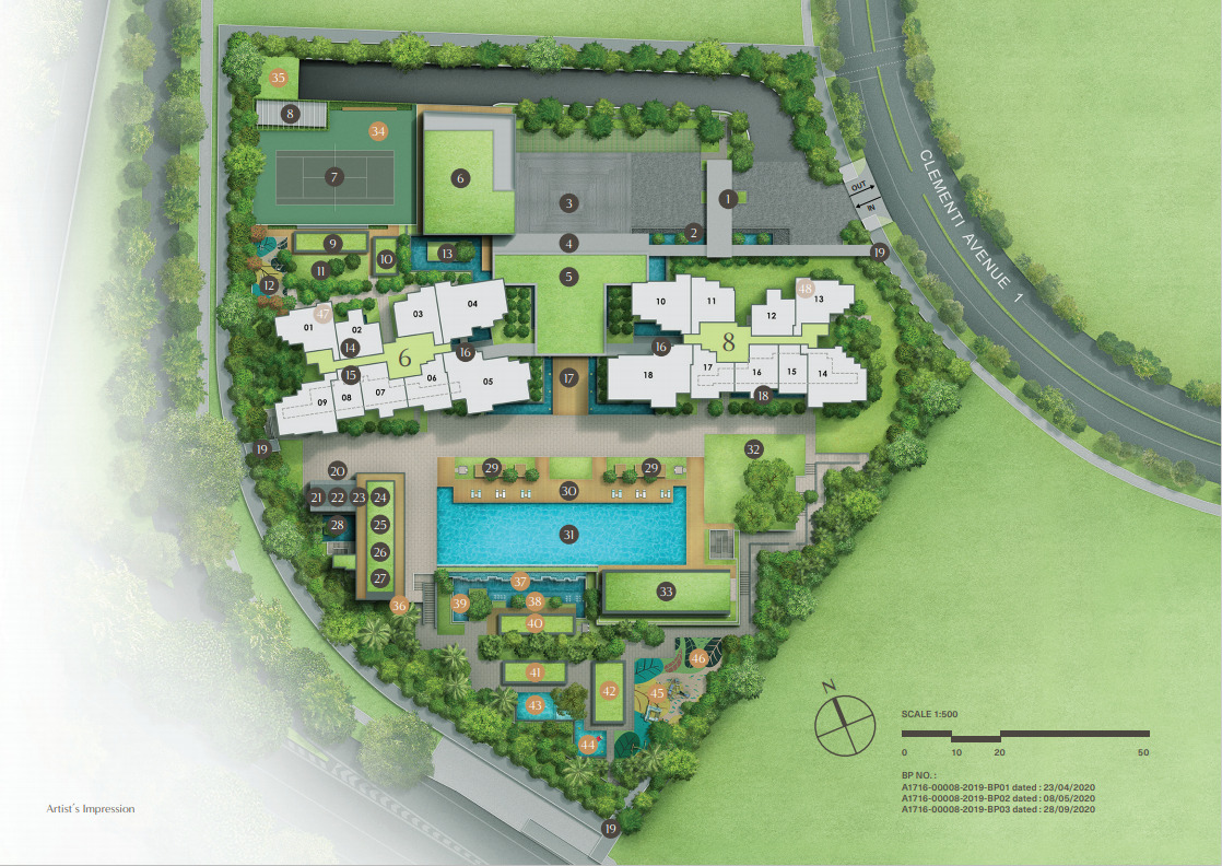 Location Siteplan with Facilities