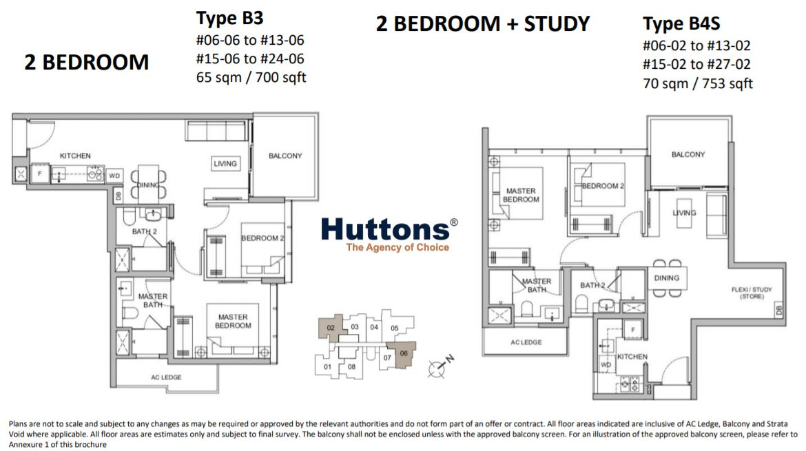 Floor Plan 2+Study Bedroom